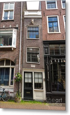 Amsterdam Skinny House Metal Print by Gregory Dyer