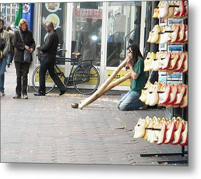 Amsterdam Street View Metal Print by Manuela Constantin