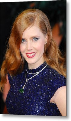 Amy Adams Wearing A Cartier Necklace Metal Print