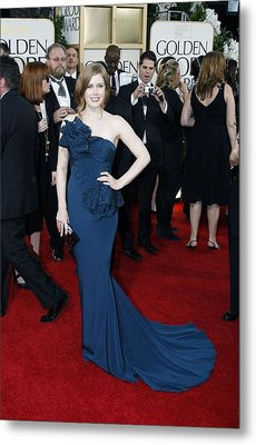 Amy Adams Wearing A Marchesa Gown Metal Print by Everett