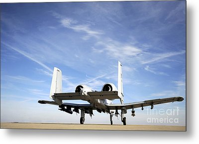 An A-10 Thunderbolt II Taxies Metal Print by Stocktrek Images