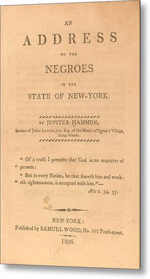 An Address To The Negros In The State Metal Print by Everett