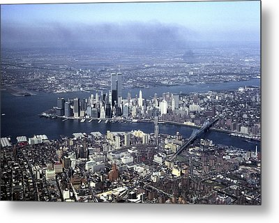 An Aerial View Of The Twin Towers Metal Print by Rex A. Stucky
