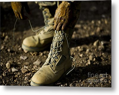 An Air Force Basic Military Training Metal Print by Stocktrek Images