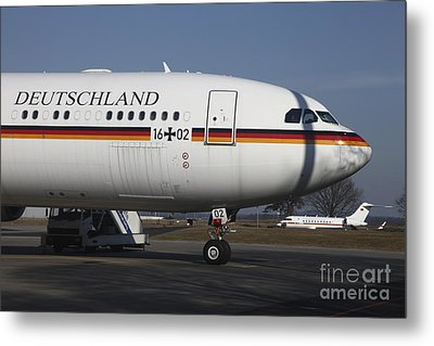 An Airbus 340 Acting As Air Force One Metal Print by Timm Ziegenthaler