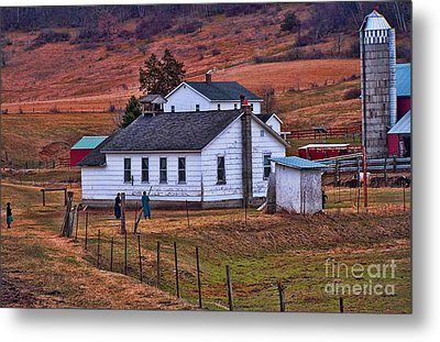 An Amish Farm Metal Print by Tommy Anderson