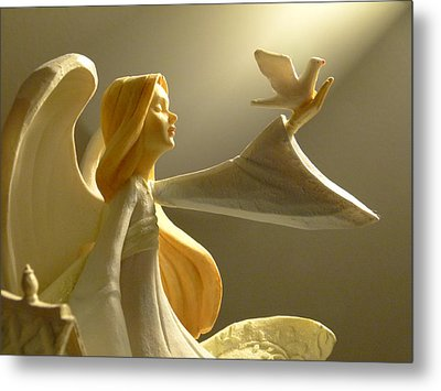 An Angelic Offering Of Peace Metal Print by Cindy Wright
