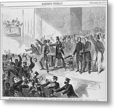 An Angry Mob Broke Up A Meeting Metal Print by Everett