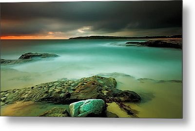 An Aqua Dawn Metal Print