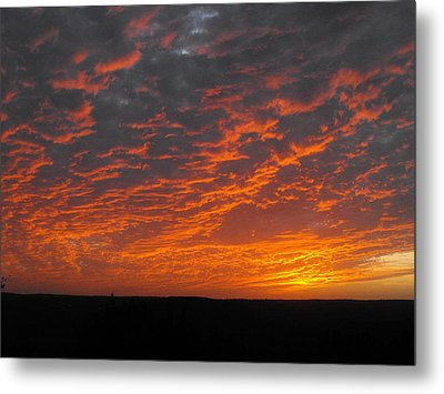 An Awesome Texas Sunset Metal Print by Rebecca Cearley
