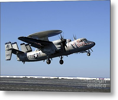 An E-2c Hawkeye Conducts A Touch-and-go Metal Print by Stocktrek Images