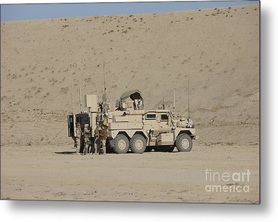 An Eod Cougar Mrap In A Wadi Metal Print by Terry Moore