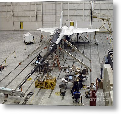 An F-15b Testbed Aircraft Undergoes Metal Print by Stocktrek Images