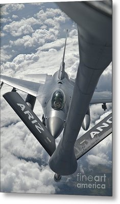 An F-16 From Colorado Air National Metal Print by Giovanni Colla