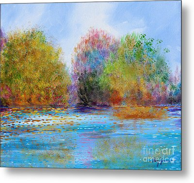 Metal Print featuring the painting An Impressionist's Symphony by Stacey Zimmerman