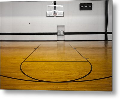 An Indoor Sports Venue. Basketball Metal Print by Christian Scully