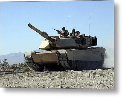 An M1a1 Main Battle Tank Metal Print by Stocktrek Images