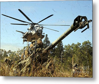 An Mh-53e Sea Stallion Helicopter Metal Print by Stocktrek Images