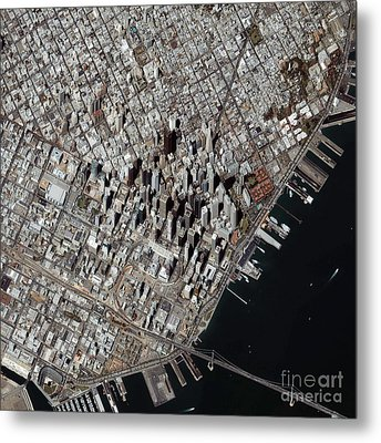 An Oblique-angle View Of San Franciscos Metal Print by Stocktrek Images
