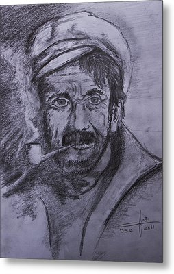 An Old Sailor Metal Print by Itzhak Richter