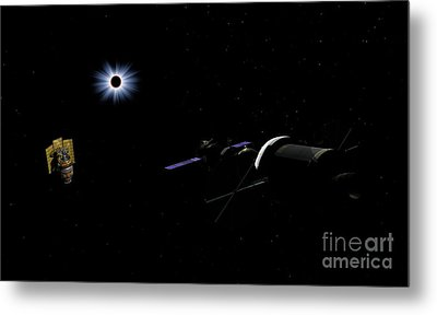 An Orion Class Crew Exploration Vehicle Metal Print by Walter Myers