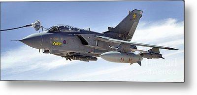 An Raf Tornado Gr-4 Takes On Fuel Metal Print by Stocktrek Images