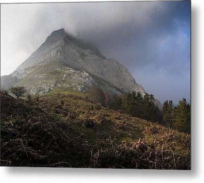 Anboto Mountain With Soft Light Metal Print by Fernando Alvarez