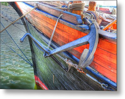 Anchor Setting Metal Print by Barry R Jones Jr