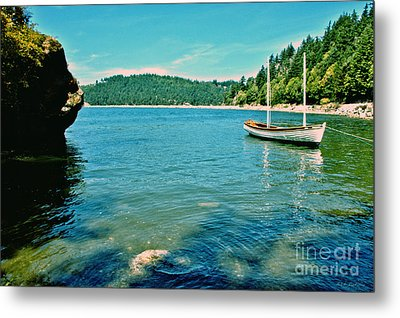 Metal Print featuring the photograph Anchored In Bay by Michelle Joseph-Long