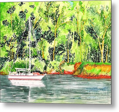 Metal Print featuring the painting Anchored by Tom Riggs