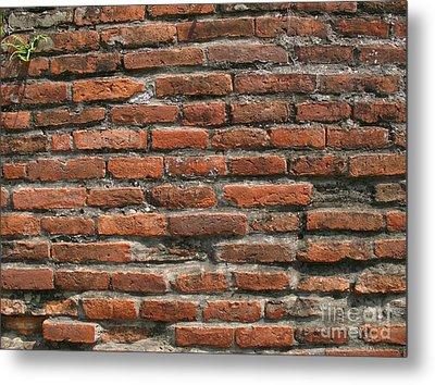 Ancient Brick Wall Metal Print by Yali Shi