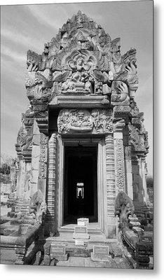 Ancient Castle At Thailand. Metal Print by Phalakon Jaisangat