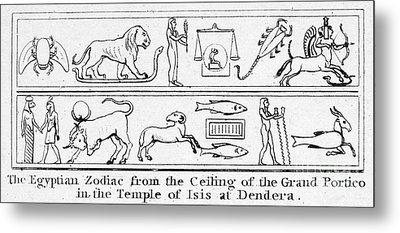 Ancient Egypt: Zodiac Metal Print by Granger