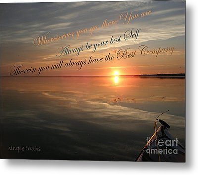 and there you Are Metal Print