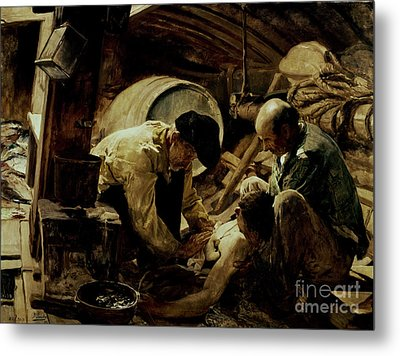 And They Still Say Fish Is Expensive Metal Print by Joaquin Sorolla y Bastida