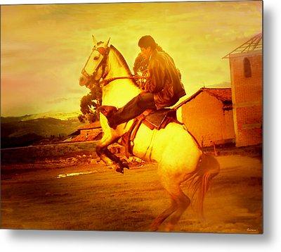 Andean Rearing Horse-cuzco Caballero IIi Metal Print