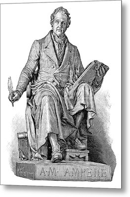 Andre-marie Ampere, French Physicist Metal Print by