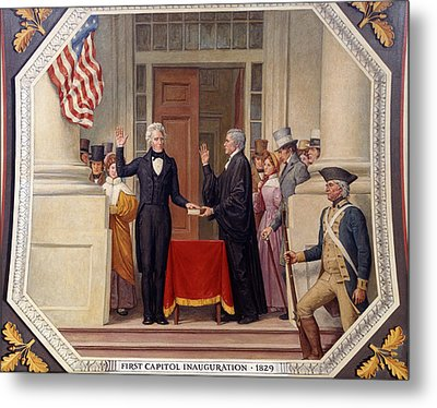 Metal Print featuring the photograph Andrew Jackson At The First Capitol Inauguration - C 1829 by International  Images