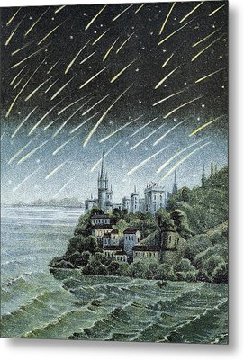 Andromedid Meteor Shower Metal Print by Science, Industry & Business Librarynew York Public Library