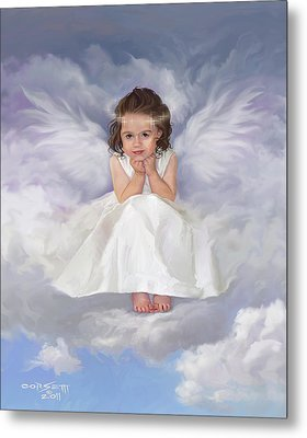 Metal Print featuring the painting Angel 2 by Rob Corsetti