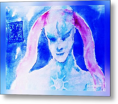 Metal Print featuring the mixed media Angel Blue by Hartmut Jager