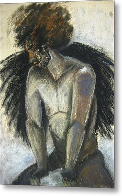 Metal Print featuring the drawing Angel by Gabrielle Wilson-Sealy