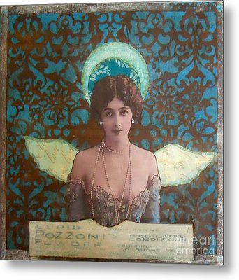 Angel In Blue Metal Print