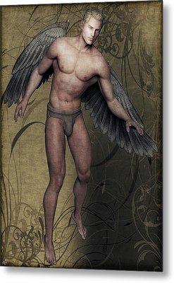 Metal Print featuring the painting Angel by Maynard Ellis