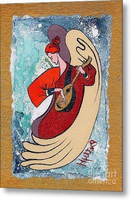 Angel Playing For Us No2 Metal Print by Elisabeta Hermann