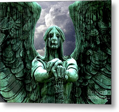 Metal Print featuring the photograph Angel Warrior by Anne Raczkowski