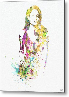 Angelina Jolie 2 Metal Print by Naxart Studio