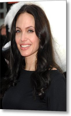 Angelina Jolie At Arrivals For Dvd Metal Print by Everett
