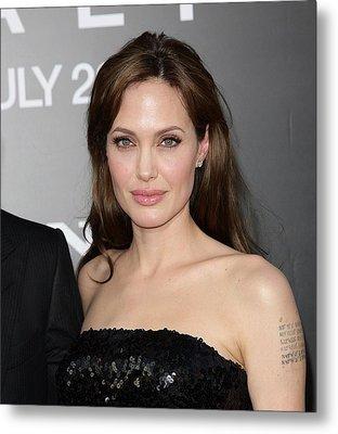 Angelina Jolie At Arrivals For Salt Metal Print by Everett