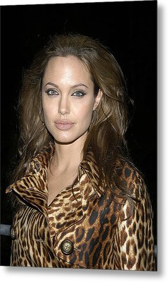 Angelina Jolie At Sharkspeare In The Metal Print by Everett